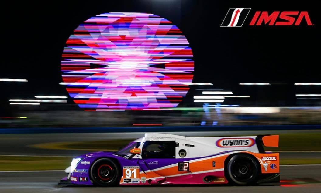 Nr 91 Wynn's Racing LMP3 raceauto van Riley Motorsport met Jeroen Bleekemolen achter het stuur tijdens de 24 uur van Daytona 2021.