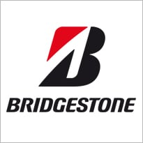 Logo van bandenfabrikant Bridgestone.